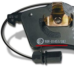 Стандарт - омологация ECE R90