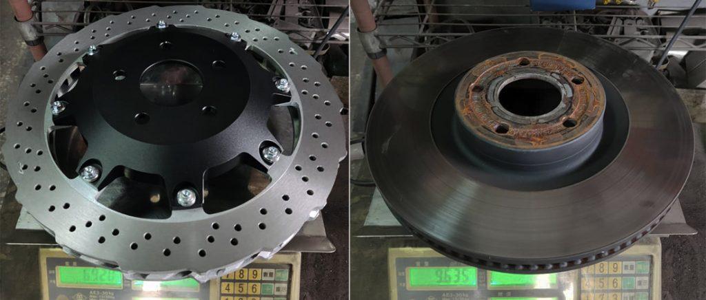 Вес составного тормозного диска